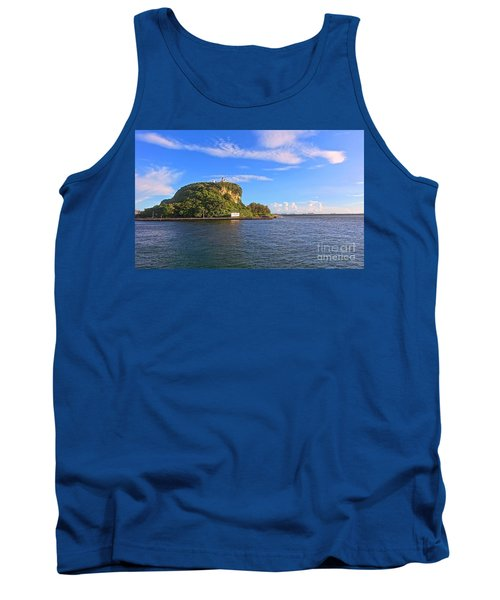 Tank Top featuring the photograph Historic Lighthouse On Chijin Island by Yali Shi