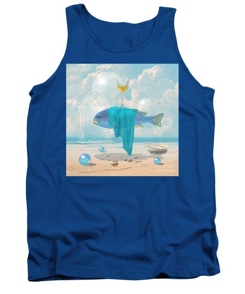 Tank Top featuring the digital art Holiday At The Seaside by Alexa Szlavics