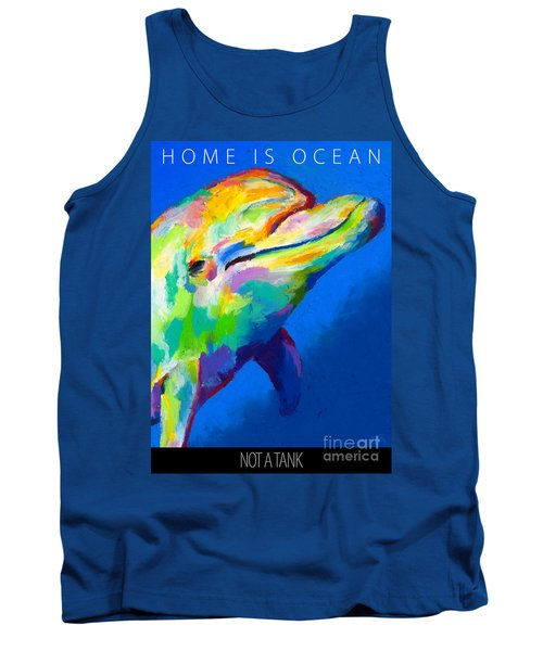 Tank Top featuring the painting Home Is Ocean by Stephen Anderson