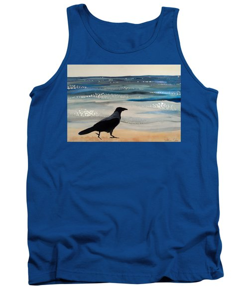 Hooded Crow At The Black Sea By Dora Hathazi Mendes Tank Top by Dora Hathazi Mendes