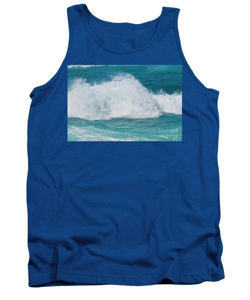 Tank Top featuring the photograph Hookipa Splash Waves Beach Break Shore Break Pacific Ocean Maui  by Sharon Mau