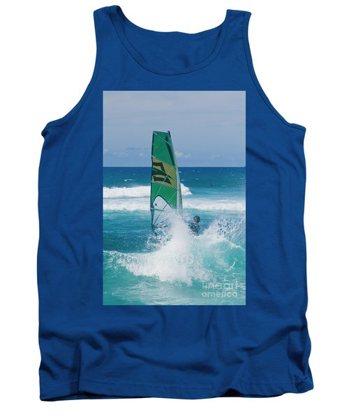 Tank Top featuring the photograph Hookipa Windsurfing North Shore Maui Hawaii by Sharon Mau