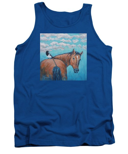 Horse And Magpie Tank Top