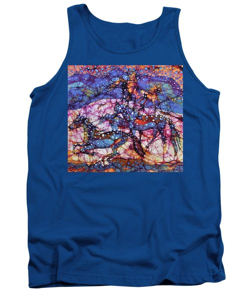 Horses Gallop In Snowfields Tank Top