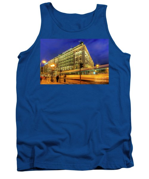 Tank Top featuring the photograph Hotel Grande Bretagne - Athens by Yhun Suarez