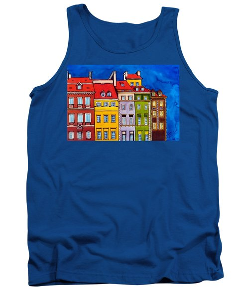 Houses In The Oldtown Of Warsaw Tank Top