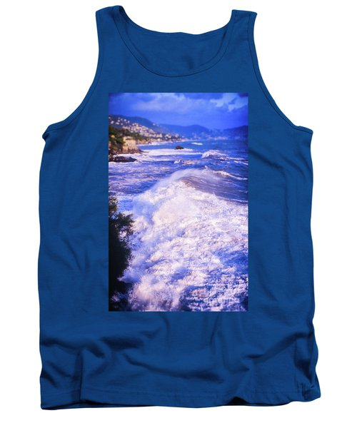 Tank Top featuring the photograph Huge Wave In Ligurian Sea by Silvia Ganora