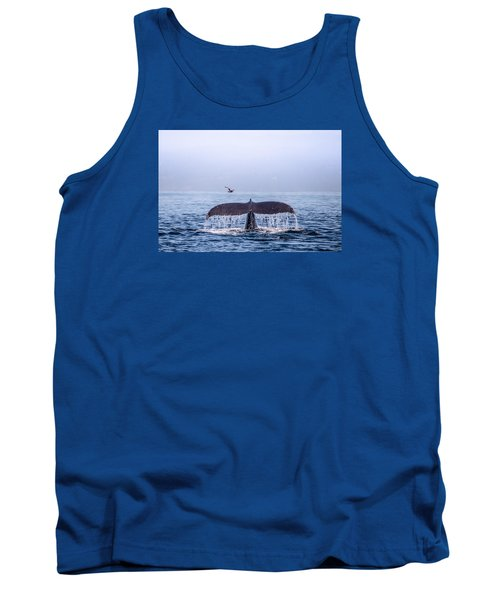 Humpback Whale Flukes Tank Top by Janis Knight