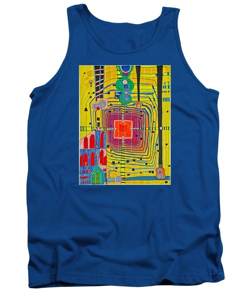 Hundertwassers Close Up Of Infinity Tagores Sun Tank Top