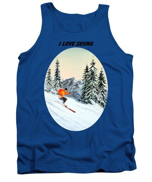 I Love Skiing  Tank Top