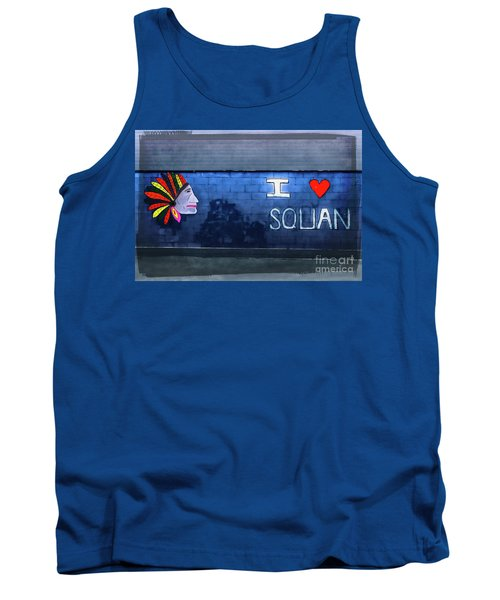 Tank Top featuring the photograph I Love Squan  by Colleen Kammerer