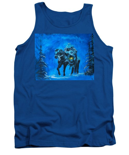 Tank Top featuring the painting I Will Carry You by Leslie Allen