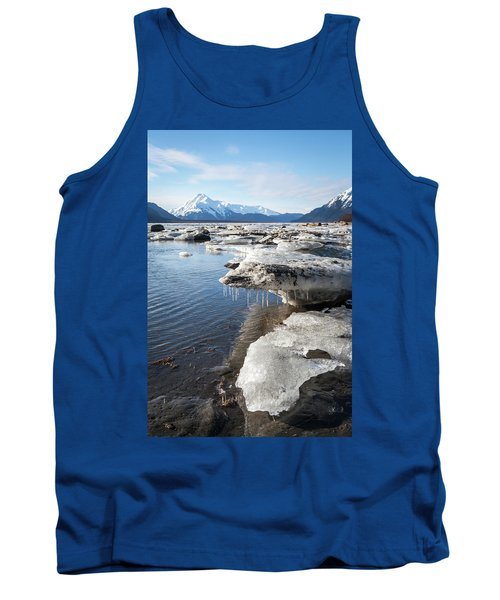 Ice Chunks In The Chilkat Estuary Tank Top