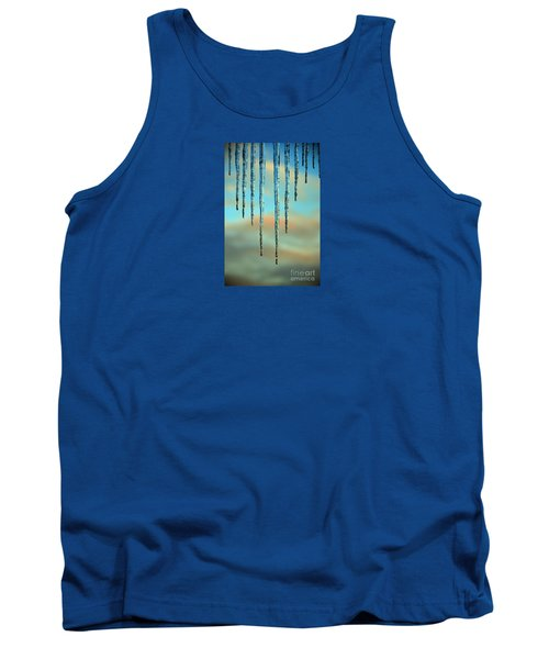 Tank Top featuring the photograph Ice Sickles - Winter In Switzerland  by Susanne Van Hulst