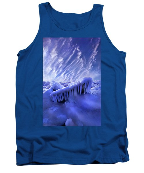 Tank Top featuring the photograph Iced Blue by Phil Koch