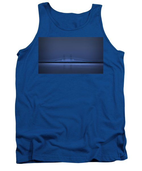 I'm In A Blue Mood Tank Top by Laura Ragland