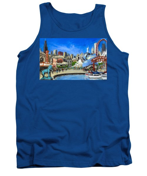 Impressions Of Chicago Tank Top by Robert Reeves