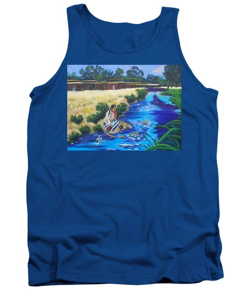 Indian Woman At The Watering Hole Tank Top