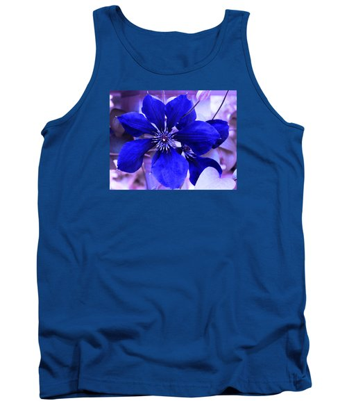 Indigo Flower Tank Top