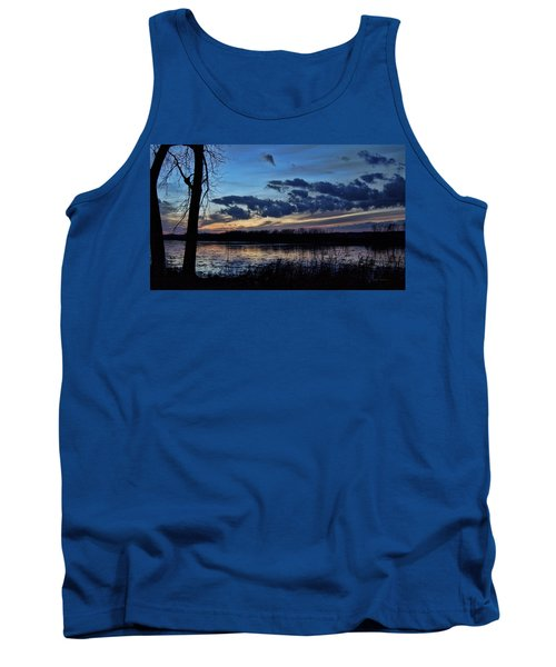 Tank Top featuring the photograph Indigo Skies by Cricket Hackmann