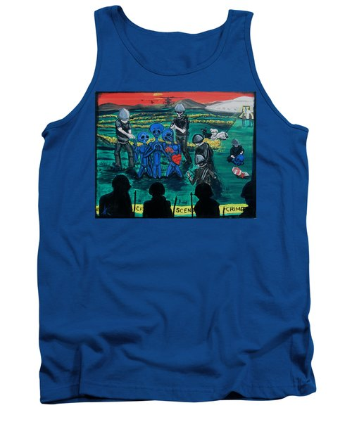 Tank Top featuring the painting Intergalactic Misunderstanding by Similar Alien