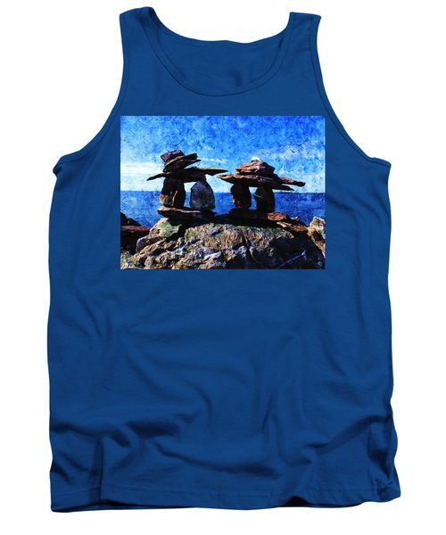 Tank Top featuring the photograph Inukshuk by Zinvolle Art