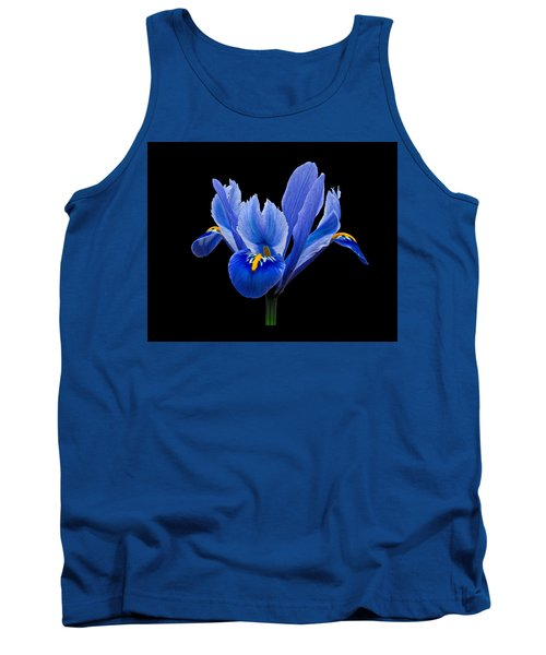 Tank Top featuring the photograph Iris Reticulata, Black Background by Paul Gulliver
