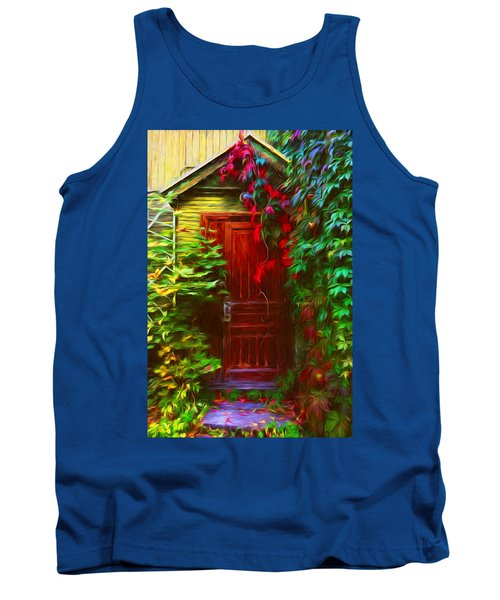 Ivy Surrounded Old Outhouse Tank Top