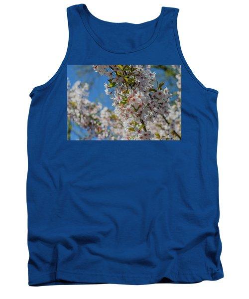 Japanese Cherry  Blossom Tank Top by Daniel Precht