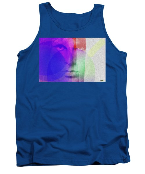 Jim Morrison Blue And Red  Tank Top