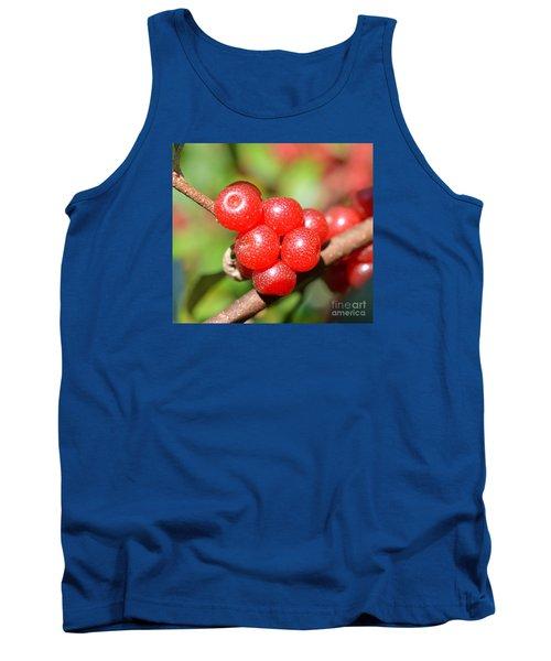 Juicy Red Tank Top by Lew Davis