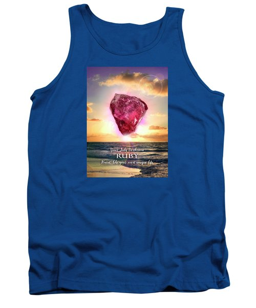 July Birthstone Ruby Tank Top by Evie Cook