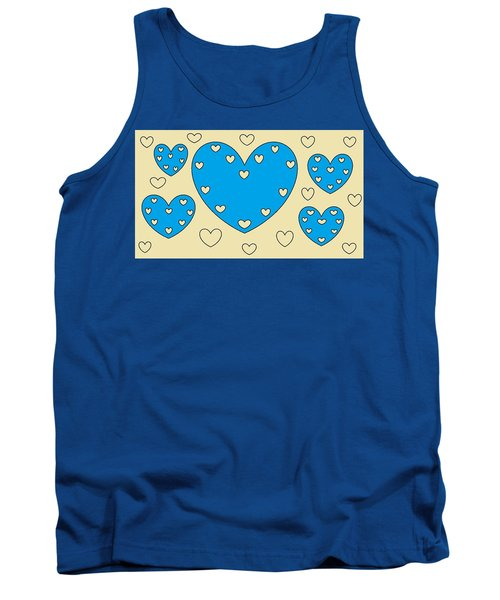 Just Hearts 4 Tank Top by Linda Velasquez