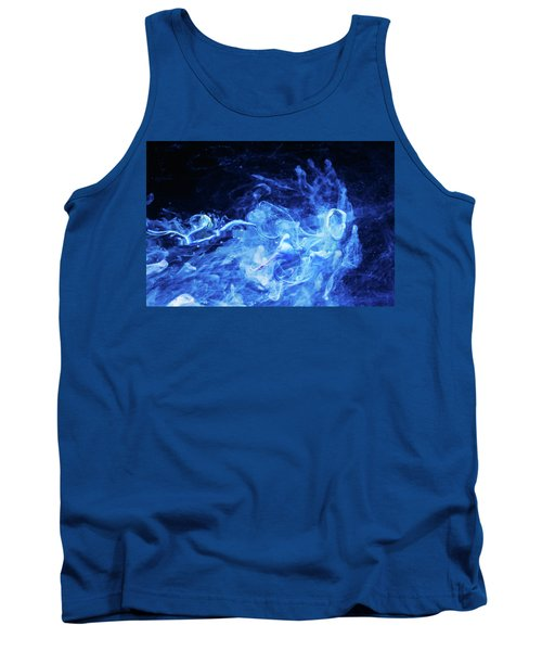 Just Passing By - Blue Art Photography Tank Top by Modern Art Prints
