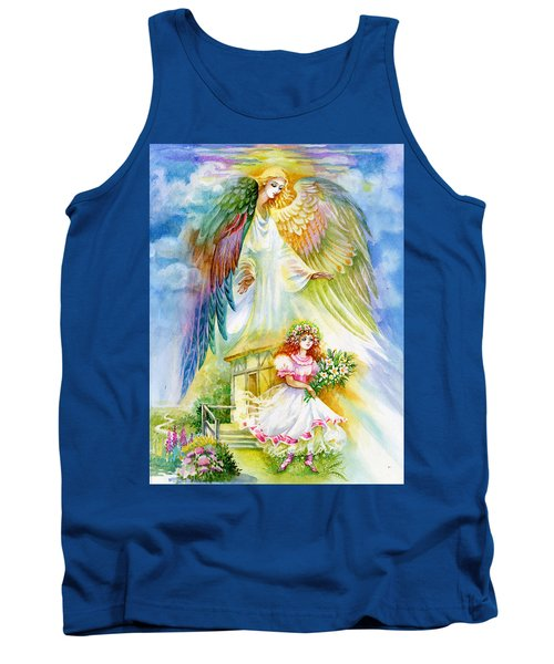 Tank Top featuring the pastel Keep Her Safe Lord by Karen Showell