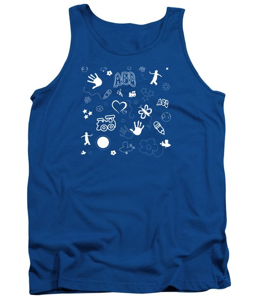 Kids Playful Background Pattern Tank Top