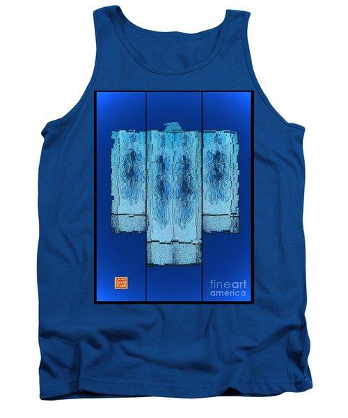 Kimono In Blue Tank Top