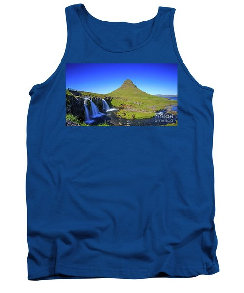 Tank Top featuring the photograph Kirkjufell Iceland by Edward Fielding