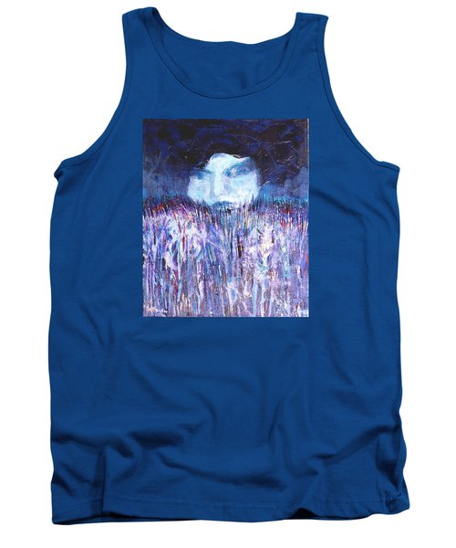 Tank Top featuring the painting Kiss Of The Silver Moon by Seth Weaver