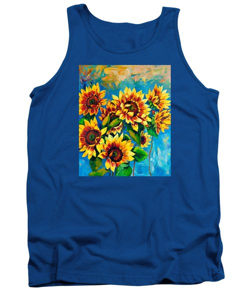 Tank Top featuring the painting Kissed By God by Karen Showell