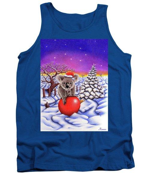 Koala On Christmas Ball Tank Top