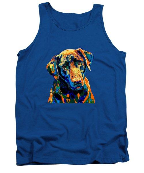 Labrador Retriever Of Many Colors Iv Tank Top