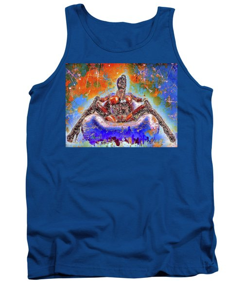 Tank Top featuring the mixed media Lady In Latex by Al Matra