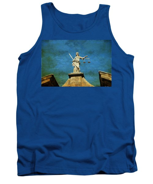 Lady Justice. Streets Of Dublin. Painting Collection Tank Top