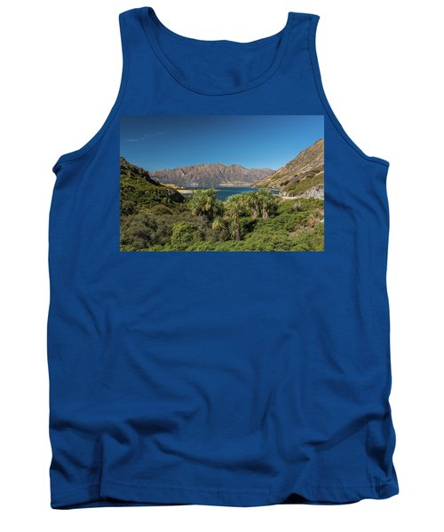 Tank Top featuring the photograph Lake Hawea Approach, Otago by Gary Eason