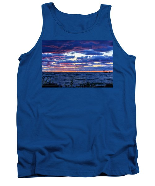 Lake Michigan Windy Sunrise Tank Top