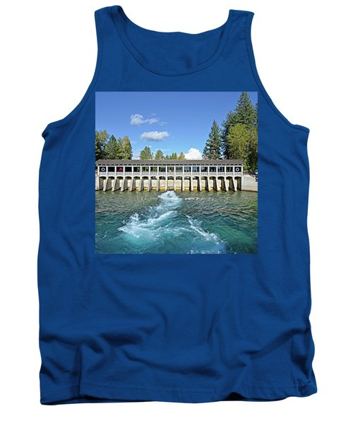 Tank Top featuring the photograph Lake Tahoe Dam by David Lawson