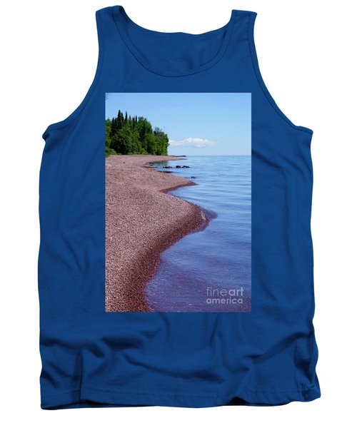 Lakewalk On The Superior Hiking Trail Tank Top by Sandra Updyke