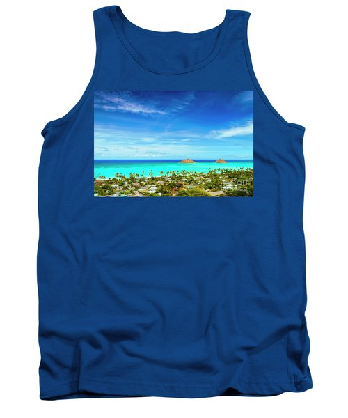 Tank Top featuring the photograph Lanikai Beach From The Pillbox Trail by Aloha Art