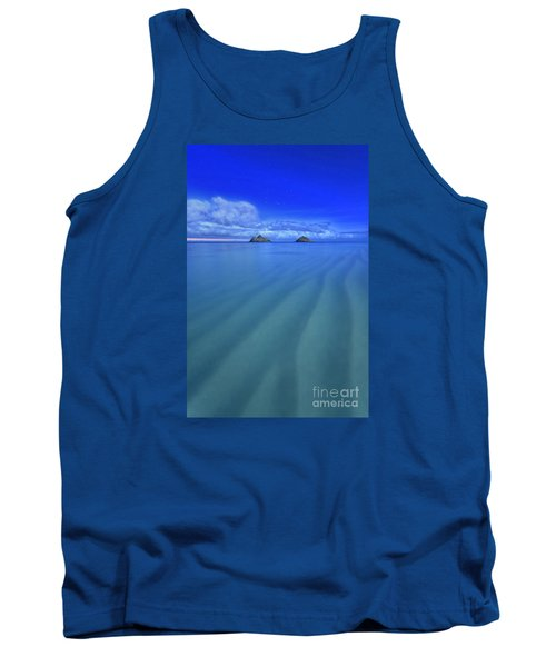 Lanikai Beach Ripples In The Sand Tank Top